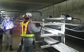 映像用の光伝送路工事